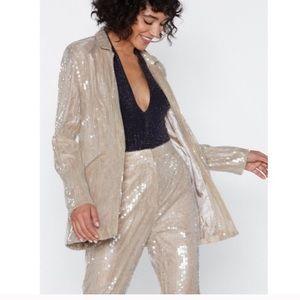 NWT nasty gal sequin blazer